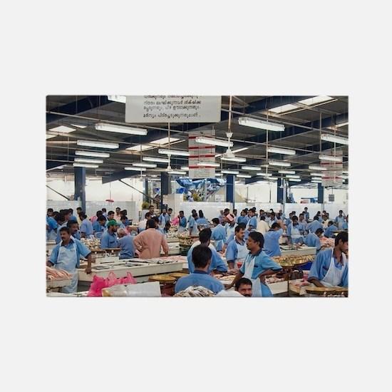 Fish Market, Dubai, United Arab E Rectangle Magnet