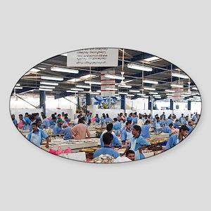 Fish Market, Dubai, United Arab Emi Sticker (Oval)