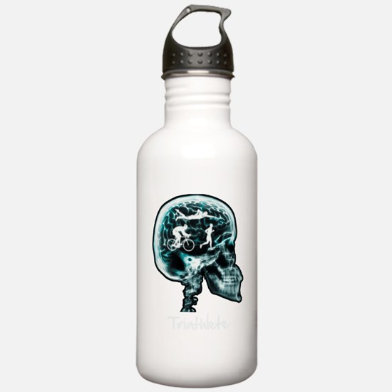 xray-man-triathlon Water Bottle