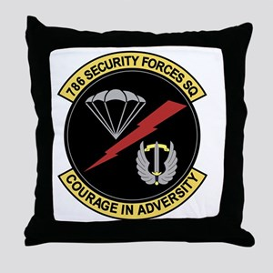 786th Security Forces Squadron Throw Pillow