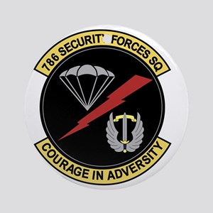 786th Security Forces Squadron Round Ornament