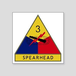 "3rd Armored Division - Spea Square Sticker 3"" x 3"""