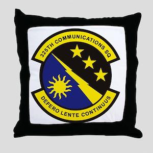 325th Comm SQ Throw Pillow