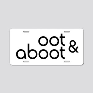Oot & Aboot Aluminum License Plate