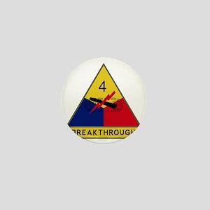 4th Armored Division - Breakthrough Mini Button