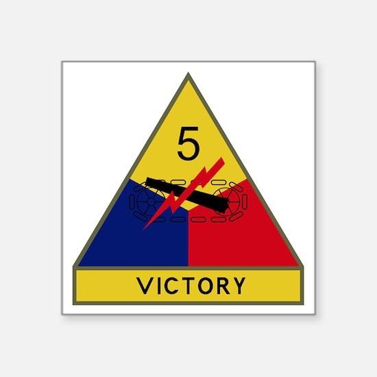 """5th Armored Division - Vict Square Sticker 3"""" x 3"""""""