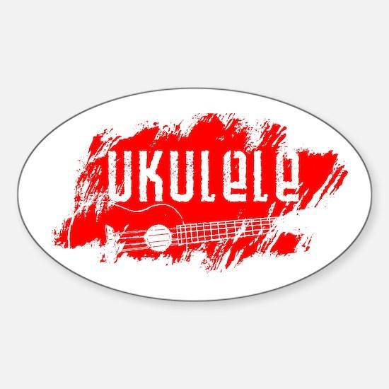 Red Ukulele Uke Decal