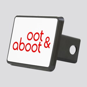 Oot & Aboot (red) Rectangular Hitch Cover