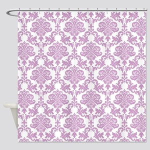 Purple Damask Shower Curtain