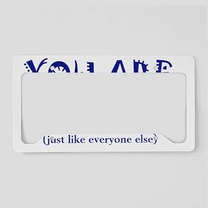 youareunique_btle1 License Plate Holder
