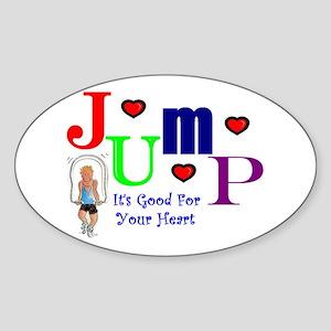 Jump Oval Sticker