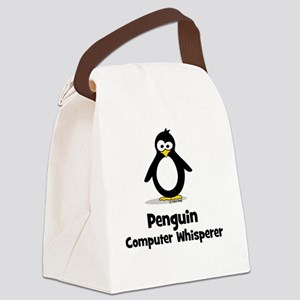 Penguin Computer Wh... Canvas Lunch Bag