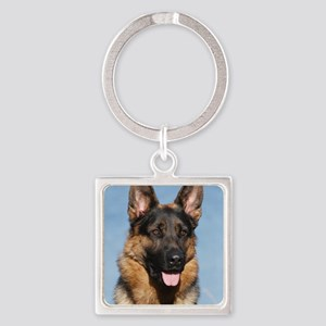 German Shepherd Dog 9Y554D-150 Square Keychain