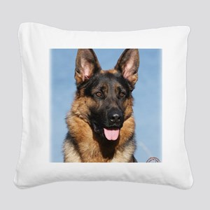 German Shepherd Dog 9Y554D-15 Square Canvas Pillow