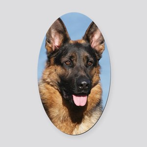 German Shepherd Dog 9Y554D-150 Oval Car Magnet