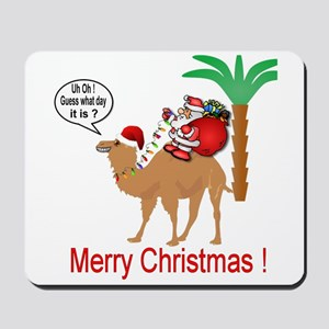 Hump Day Camel Merry Christmas Mousepad