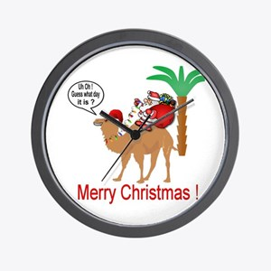 Hump Day Camel Merry Christmas Wall Clock