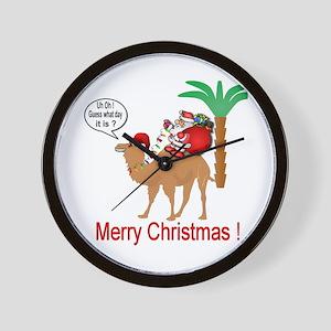 Hump Day Camel Merry Christmas Wall Clock