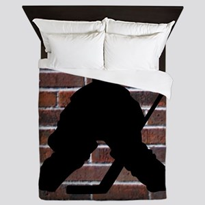 Hockie Goalie Brick Wall Queen Duvet