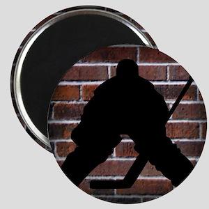 Hockie Goalie Brick Wall Magnet