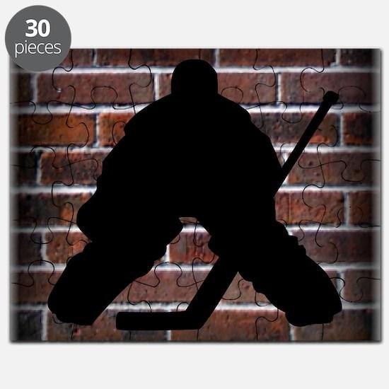 Hockie Goalie Brick Wall Puzzle