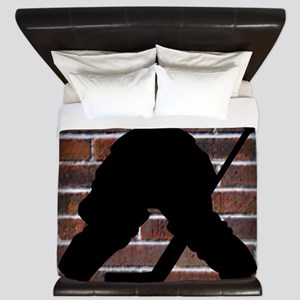 Hockie Goalie Brick Wall King Duvet
