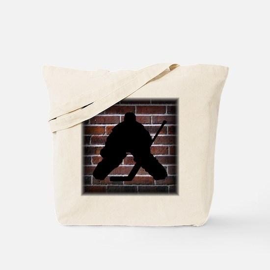 Hockie Goalie Brick Wall Tote Bag