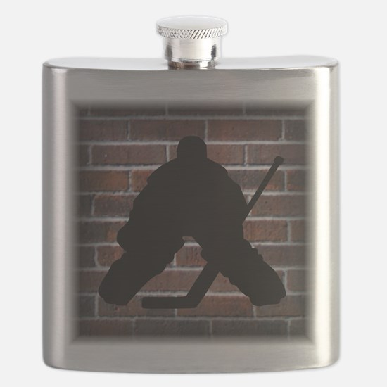 Hockie Goalie Brick Wall Flask