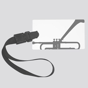 Dizzy Trumpet Gray Large Luggage Tag
