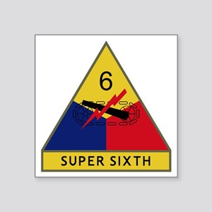 "6th Armored Division - Supe Square Sticker 3"" x 3"""