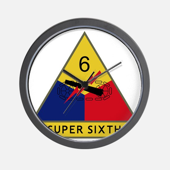 6th Armored Division - Super Sixth Wall Clock