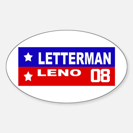 LETTERMAN / LENO 2008 Oval Decal