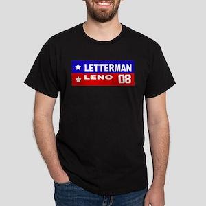 LETTERMAN / LENO 2008 Dark T-Shirt