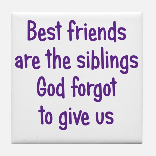 bestfriends3 Tile Coaster