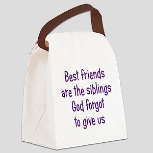 bestfriends3 Canvas Lunch Bag