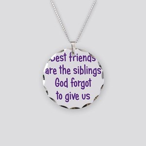 bestfriends3 Necklace Circle Charm