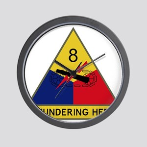 8th Armored Division - Thundering Herd Wall Clock