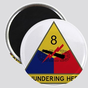 8th Armored Division - Thundering Herd Magnet