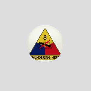 8th Armored Division - Thundering Herd Mini Button