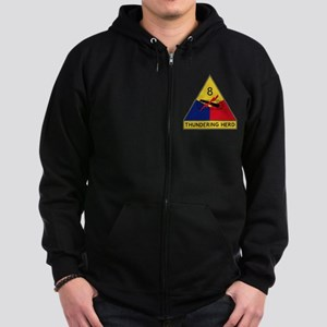 8th Armored Division - Thunderin Zip Hoodie (dark)