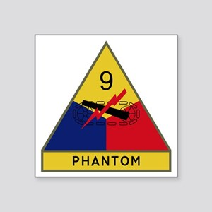 "9th Armored Division - Phan Square Sticker 3"" x 3"""