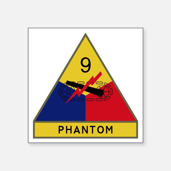 """9th Armored Division - Phan Square Sticker 3"""" x 3"""""""