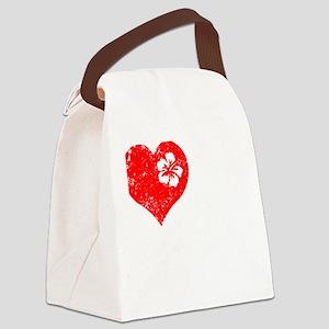 Love 2 Ukulele Canvas Lunch Bag