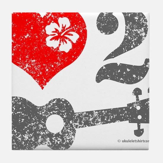 Love 2 Ukulele Tile Coaster