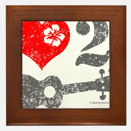 Love 2 Ukulele Framed Tile