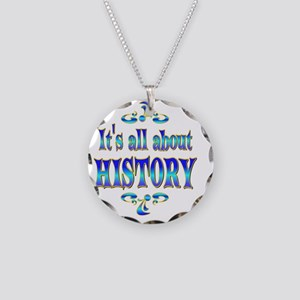 HISTORY Necklace Circle Charm