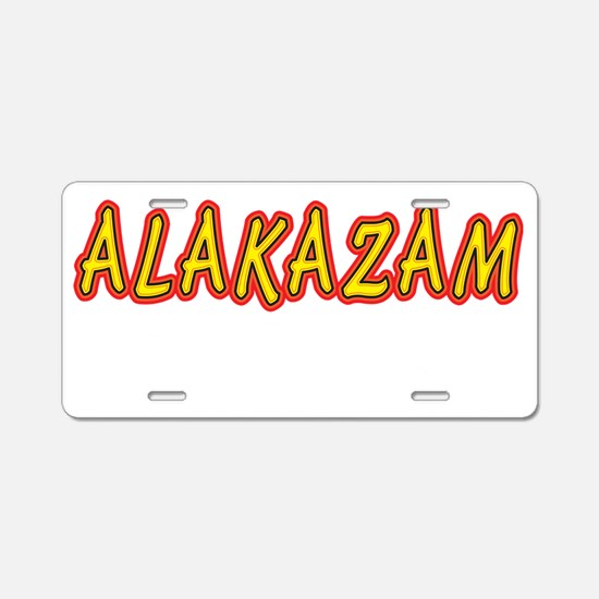 Alakazam_dark_crop Aluminum License Plate
