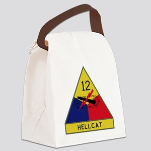 12th Armored Division - Hellcat Canvas Lunch Bag