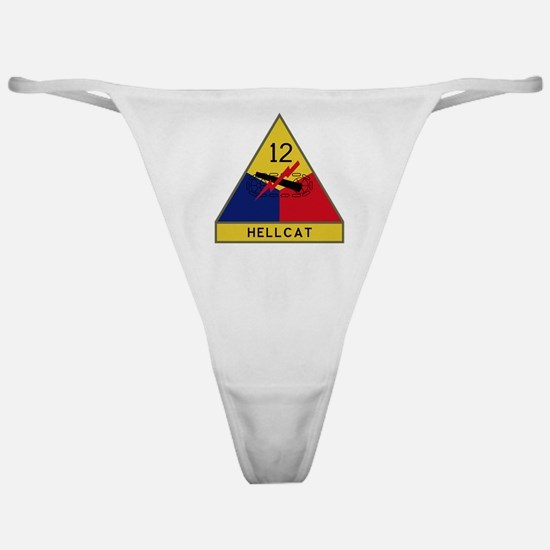 12th Armored Division - Hellcat Classic Thong