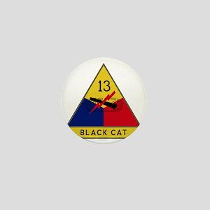 13th Armored Division - Black Cat Mini Button